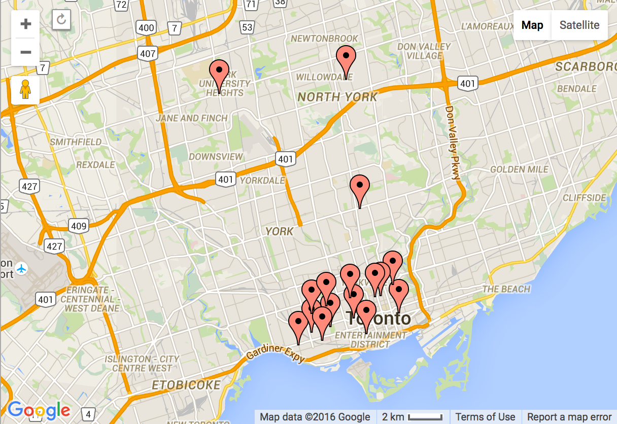 Toronto's 15 Most Popular Neighbourhoods For People 20 to 34