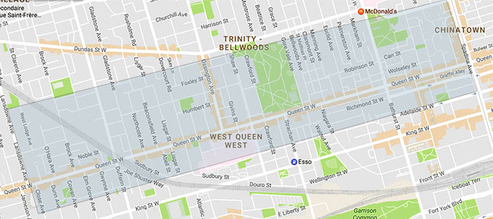 The Queen West Condo Neighbourhood, Downtown Toronto